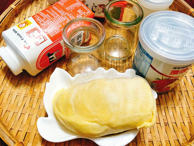 Cách làm sữa chua sầu riêng
