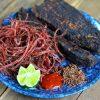 Món thịt trâu gác bếp là đặc sản của núi rừng Tây Bắc