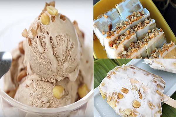 Cách làm kem chuối lạc bằng máy xay sinh tố