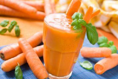 Tác dụng của nước ép sinh tố cà rốt