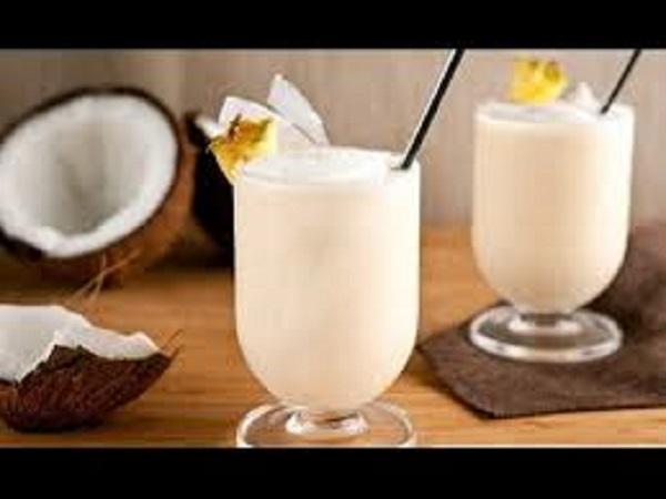 Cách làm sinh tố dừa sáp ngọt
