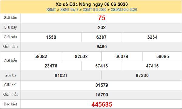 Thống kê XSDNO 13/6/2020 chốt KQXS Đắc Nông thứ 7