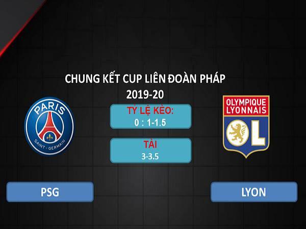 Soi kèo PSG vs Lyon 02h10, 01/08 - Cúp Liên đoàn Pháp