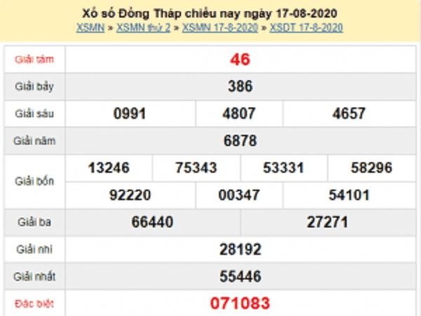 Dự đoán KQXSDT- xổ số đồng tháp ngày 24/08 chuẩn xác