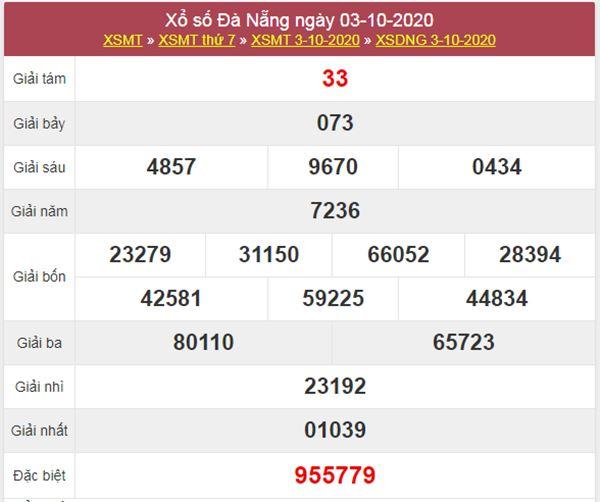 Nhận định KQXS Đà Nẵng 7/10/2020 chốt XSDNG thứ 4