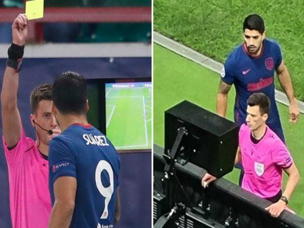 Bóng đá QT sáng 4/11: Suarez nhận thẻ vàng vì nhìn trộm VAR
