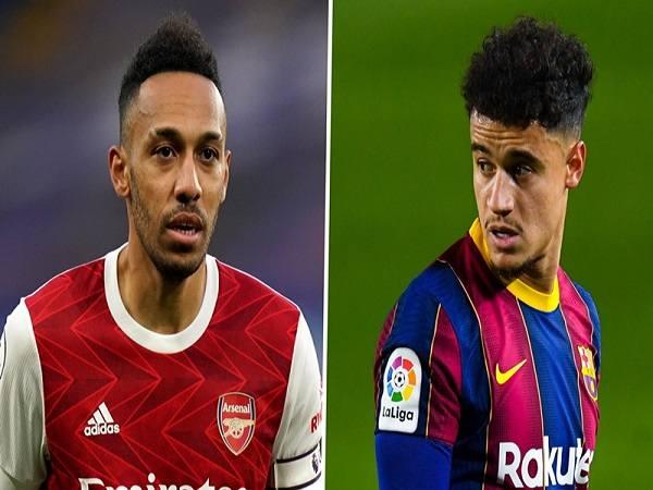 Barca tính đổi Coutinho lấy Aubameyang